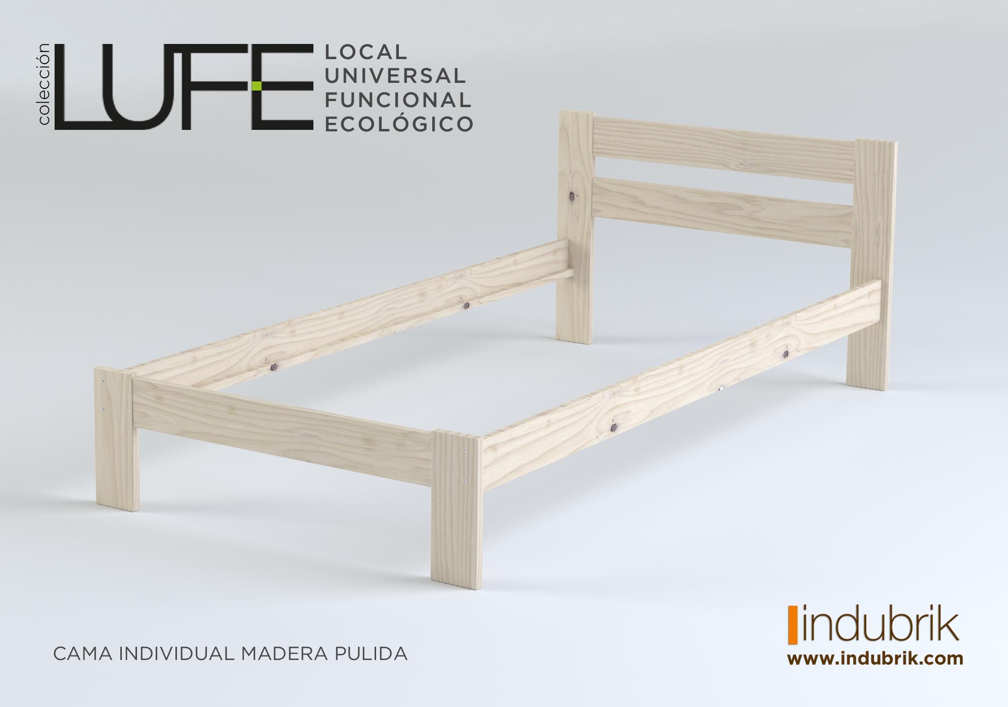 Cama de madera maciza por menos de 20 muebles marketing for Cama individual precio